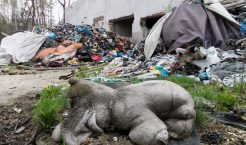 Na składowisku przy ulicy Słowackiego w Trzebini znajduję się około 46 tysięcy m3 odpadów