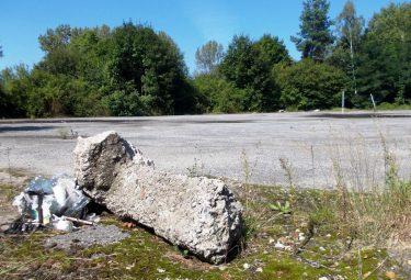 Zaniedbane od dłuższego czasu asfaltowe boisko przy liceum w Sierszy ma zostać uporządkowane (Fot. Robert Siwek).
